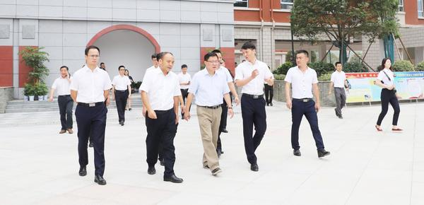 副省长陈文浩调研沙坪建设沙坪实验小学项目